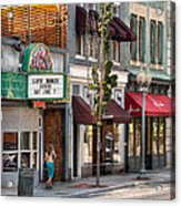 City - Roanoke Va - Down One Fine Street  Acrylic Print