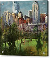 City Set On A Hill Acrylic Print