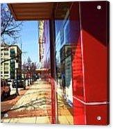City Sidewalk Acrylic Print