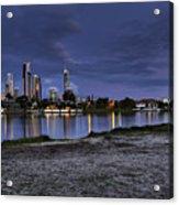 City Skyline At Night Acrylic Print