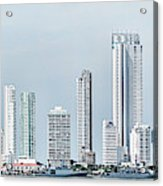 City Skyline, Bocagrande, Cartagena Acrylic Print