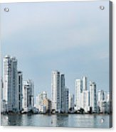 City Skyline, Castillogrande Acrylic Print