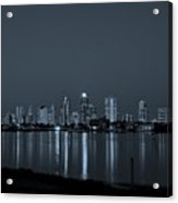 City Skyline Monochrome Acrylic Print