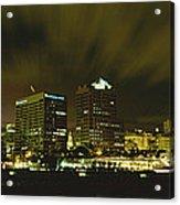 City Skyline With Milwaukee Art Museum Acrylic Print