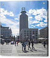 City Square In Stockholm Acrylic Print