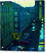 City Streets Digital Painting Acrylic Print