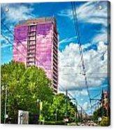 City Streets Of Charlotte North Carolina Acrylic Print