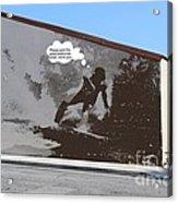 City Surfin Street Art Acrylic Print