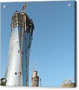 City Under Construction Acrylic Print