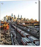 City Up The Tracks Acrylic Print