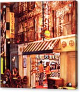 City - Vegas - Ny - Broadway Burger Acrylic Print by Mike Savad