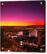 City - Vegas - Ny - Sunrise Over The City Acrylic Print