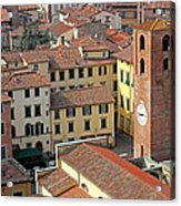 City View Of Lucca With The Clock Tower Acrylic Print by Kiril Stanchev