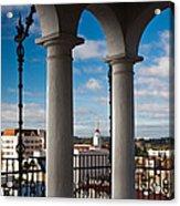 City Viewed Through From The Santa Acrylic Print
