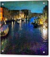 Cityscape #19. Venetian Night Acrylic Print