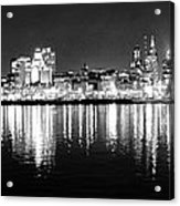 Cityscape In Black And White - Philadelphia Acrylic Print