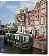 Cityscape Of Amsterdam Acrylic Print