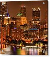 Cityscape Of Color Acrylic Print