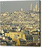 Cityscape Of Paris Paris, France Acrylic Print by Ingrid Rasmussen