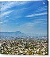 Cityscape Of Tuxtla Chiapas Acrylic Print