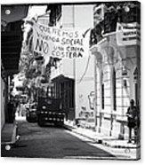 Ciudad Vieja Calle Acrylic Print