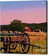 Civil War Caisson At Gettysburg Acrylic Print
