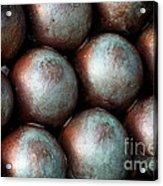 Civil War Cannon Balls Acrylic Print
