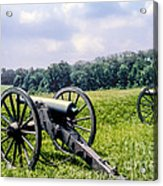 Civil War Cannons Acrylic Print