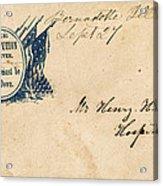 Civil War Letter 25 Acrylic Print