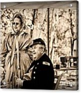 Civil War Officer And Wife Acrylic Print