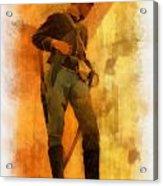 Civil War Soldier Photo Art Acrylic Print