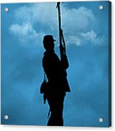 Civil War Soldier Silhouette Acrylic Print