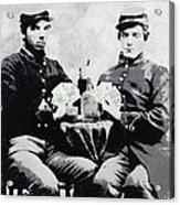 Civil War Whiskey And Cards  C. 1863 Acrylic Print