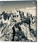 Civita Di Bagnoregio Tuscany On Plateau Of Friable Volcanic Tuff Acrylic Print