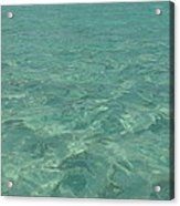 Clear Water Of Guam Acrylic Print