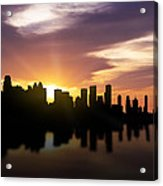 Calgary Sunset Skyline  Acrylic Print