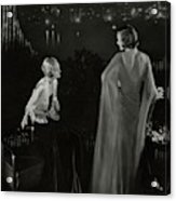 Claire Coulter And Avis Newcomb Wearing Evening Acrylic Print