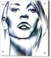 Claire Danes Acrylic Print by Wu Wei