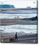 Clam Digger With Wagon Acrylic Print