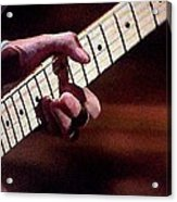 Clapton Playing Guitar - Watercolor Painting Acrylic Print