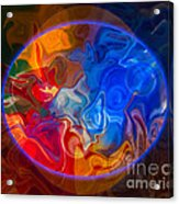 Clarity In The Midst Of Confusion Abstract Healing Art Acrylic Print
