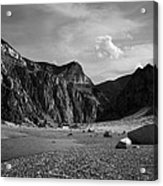 Clarks Fork Canyon Interior Bw 1 Acrylic Print