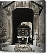 Clarks Trading Post Train Acrylic Print
