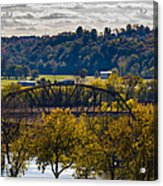 Clarksville Railroad Bridge Acrylic Print