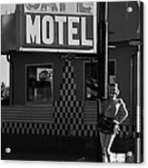 Classic 50s Motel Cafe Acrylic Print