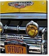 Classic New York City Cab - Detail Acrylic Print
