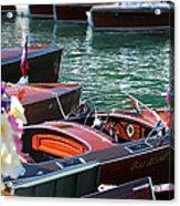 Classic Boats In Lake Tahoe Acrylic Print