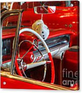 Classic Cadillac Beauty In Red Acrylic Print