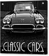 Classic Cars Front Cover Acrylic Print