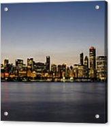 Classic Chicago Skyline At Dusk Acrylic Print